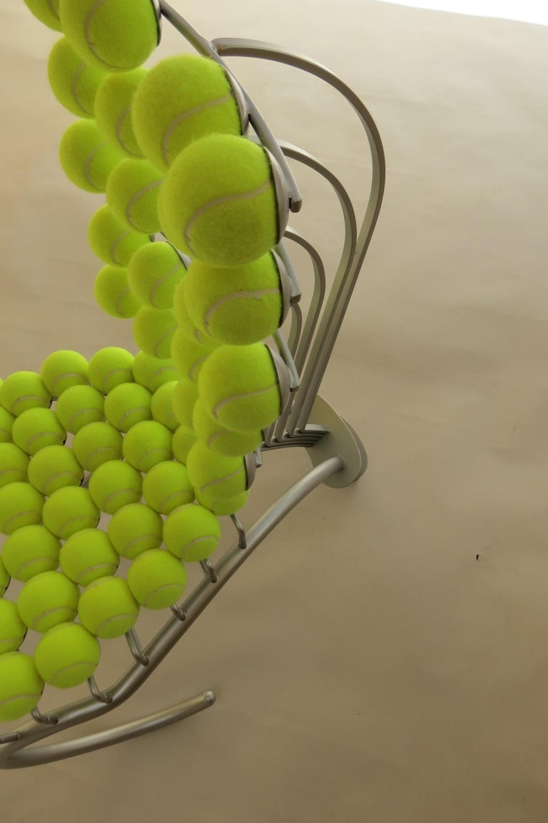 1980s Bespoke Sculptural Tennis Ball Chair Wimbledon Chair For Sale 3