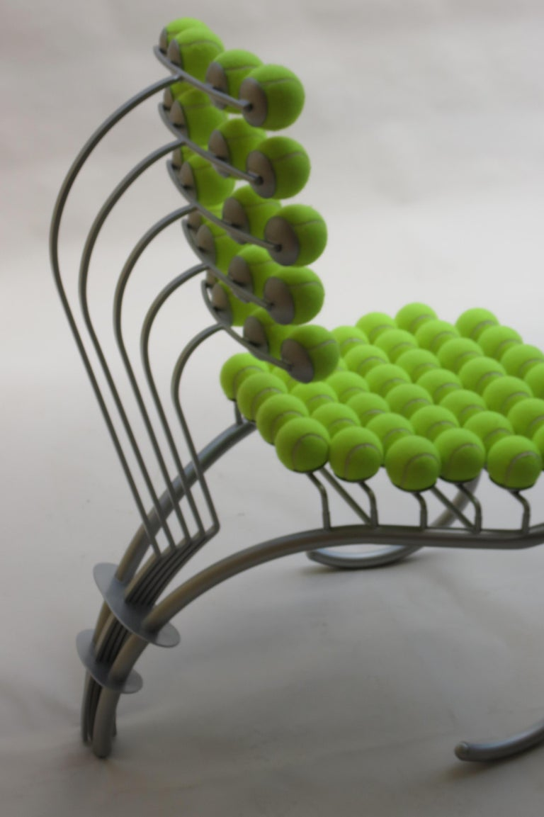 1980s Bespoke Sculptural Tennis Ball Chair Wimbledon Chair For Sale 5
