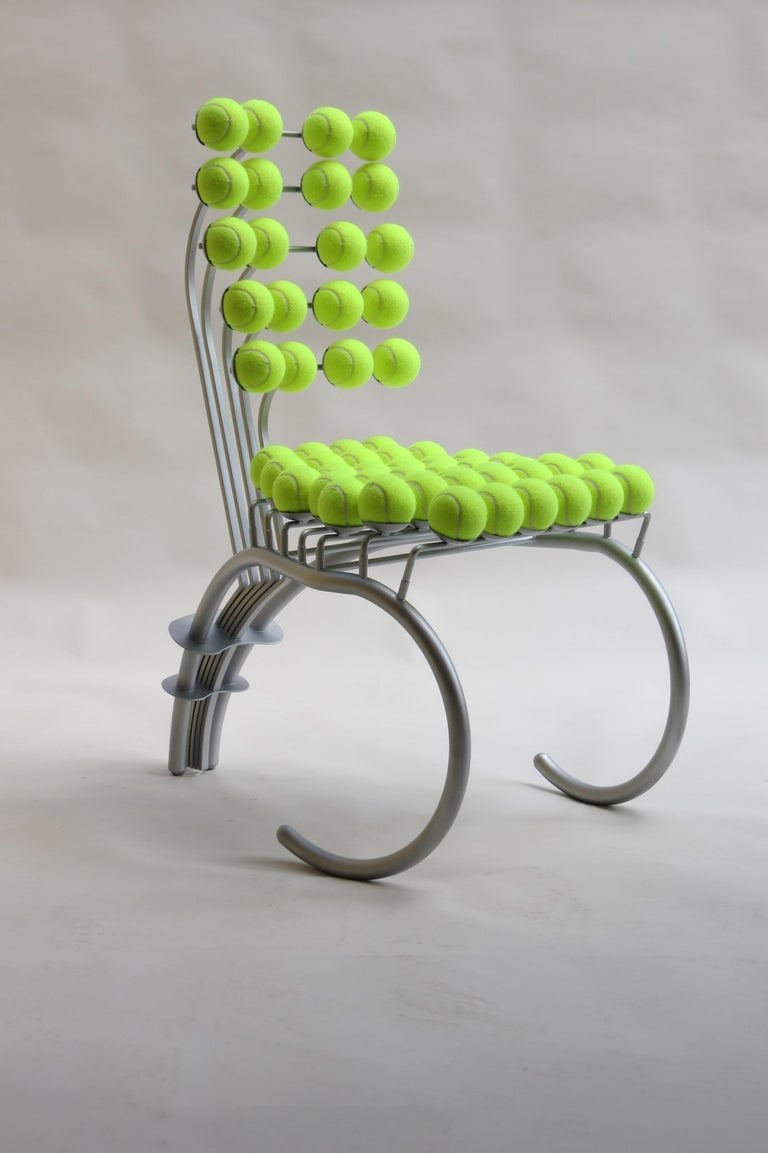 English 1980s Bespoke Sculptural Tennis Ball Chair Wimbledon Chair For Sale