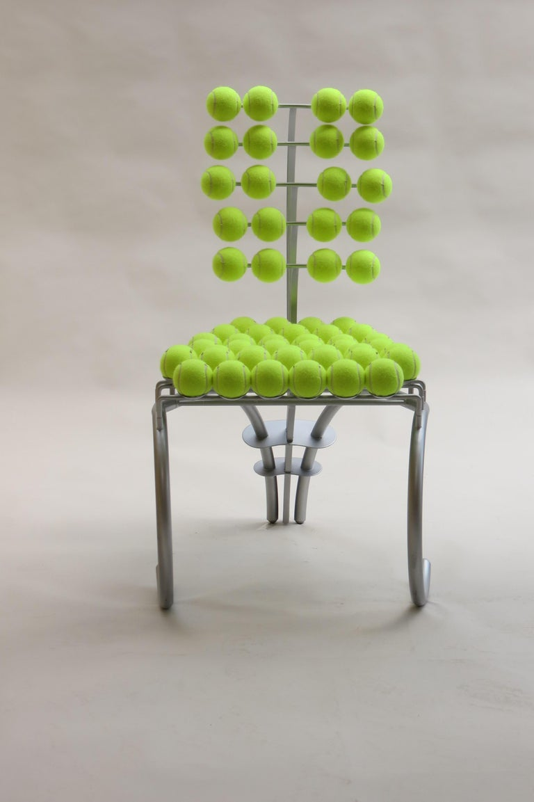 Late 20th Century 1980s Bespoke Sculptural Tennis Ball Chair Wimbledon Chair For Sale