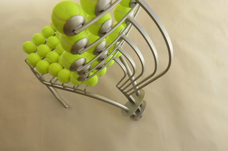 Steel 1980s Bespoke Sculptural Tennis Ball Chair Wimbledon Chair For Sale