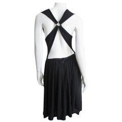 1980s Bill Blass Cross Back Dress
