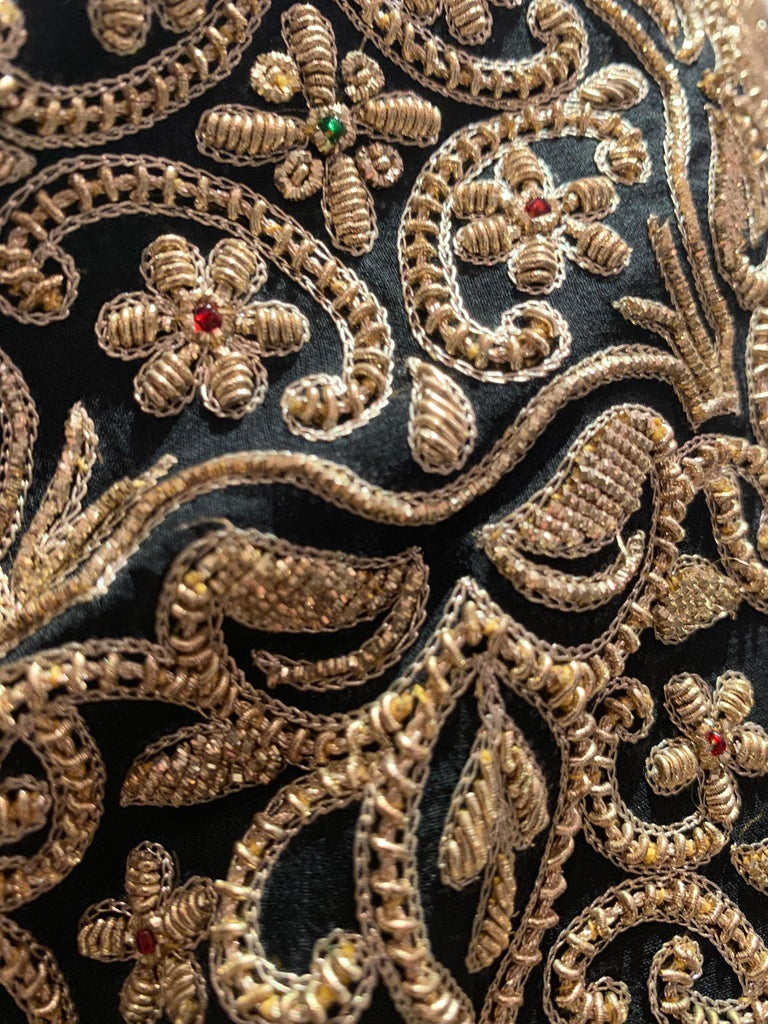 1980s  Bill Blass Evening Jacket W/ Heavily Encrusted Chain Embriodery Gold Work For Sale 5