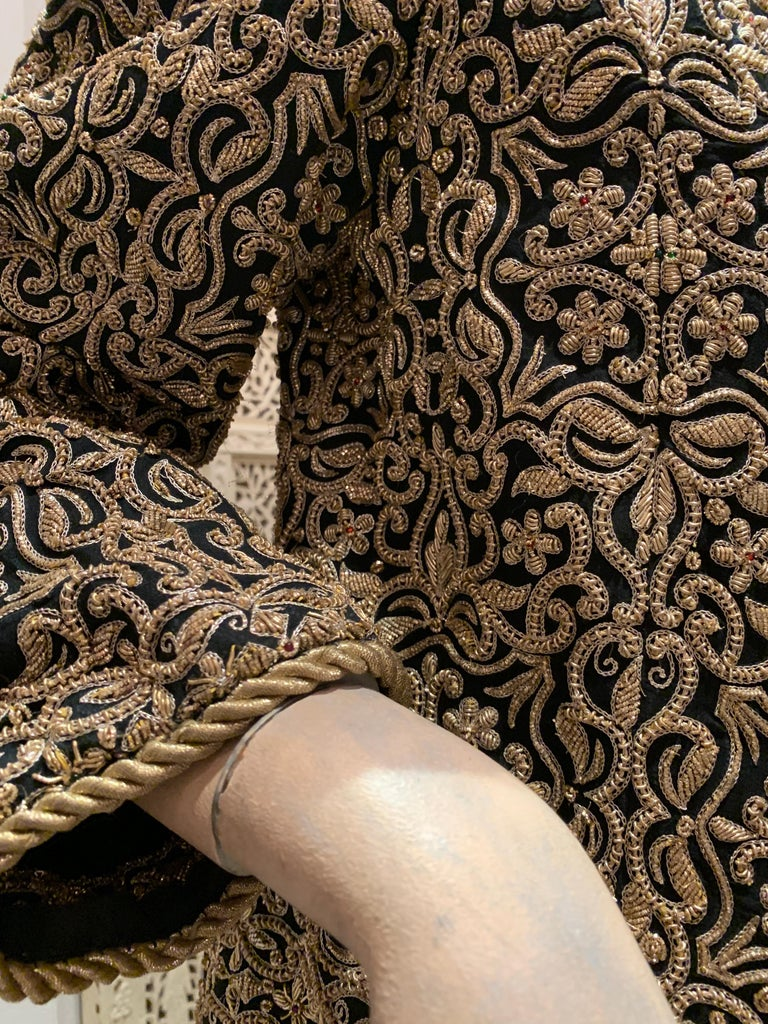 1980s  Bill Blass Evening Jacket W/ Heavily Encrusted Chain Embriodery Gold Work For Sale 1