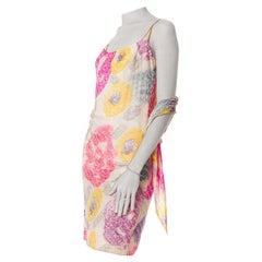 1980S  Blend Floral Cocktail Dress