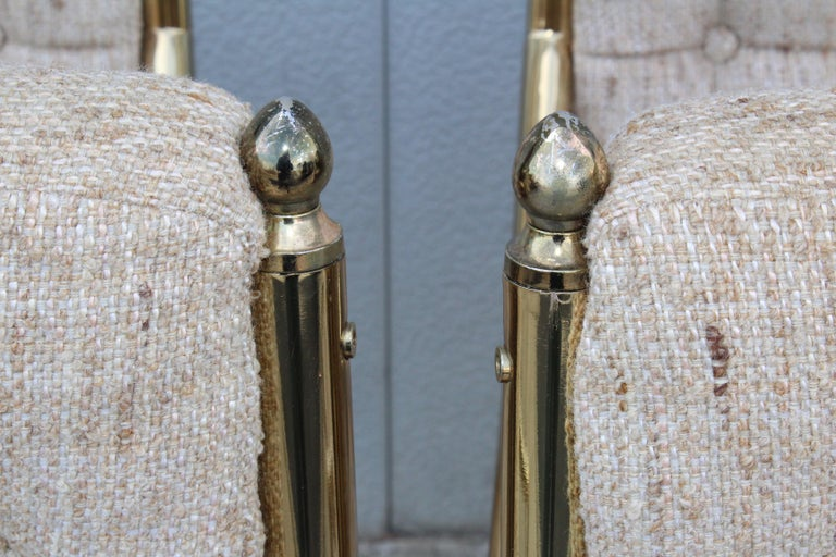 1980s Brass Dining Chairs Set of Six For Sale 6