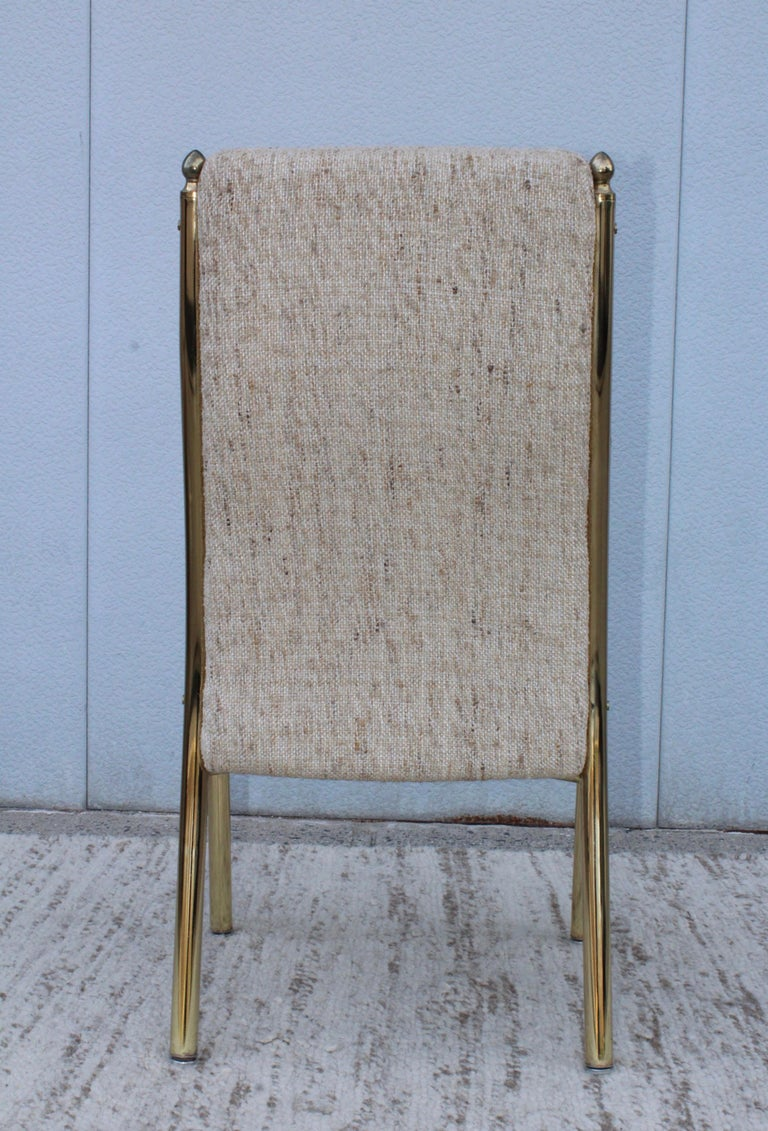 1980s Brass Dining Chairs Set of Six For Sale 9