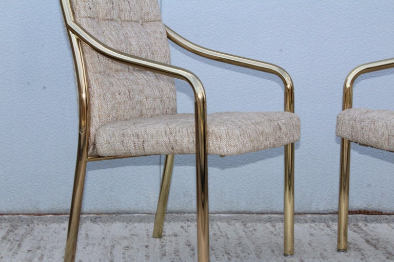 1980s Brass Dining Chairs Set of Six For Sale 10
