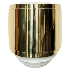 1980s Brass Wall-Mounted Sconce by Warren Platner 'a'