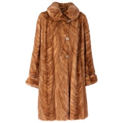 1980s Brown Reversible Mink Fur