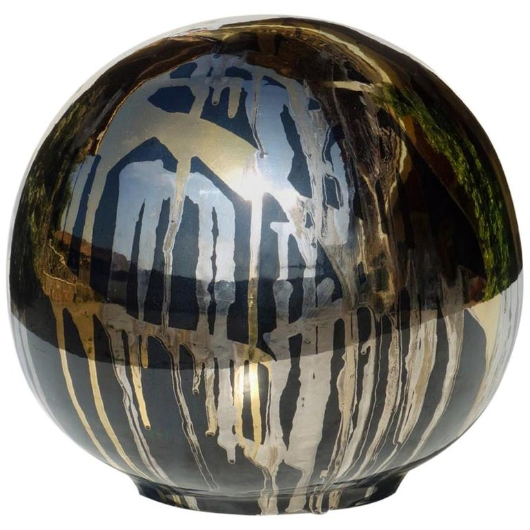 1980s Bruno Contenotte Italian Pottery Abstract Art Ceramic Sculpture For Sale