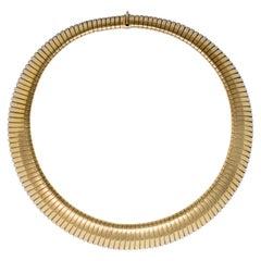 1980s Bulgari Tubogas Collar Necklace