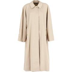 Burberry Beige Cotton Vintage Overcoat, 1980s