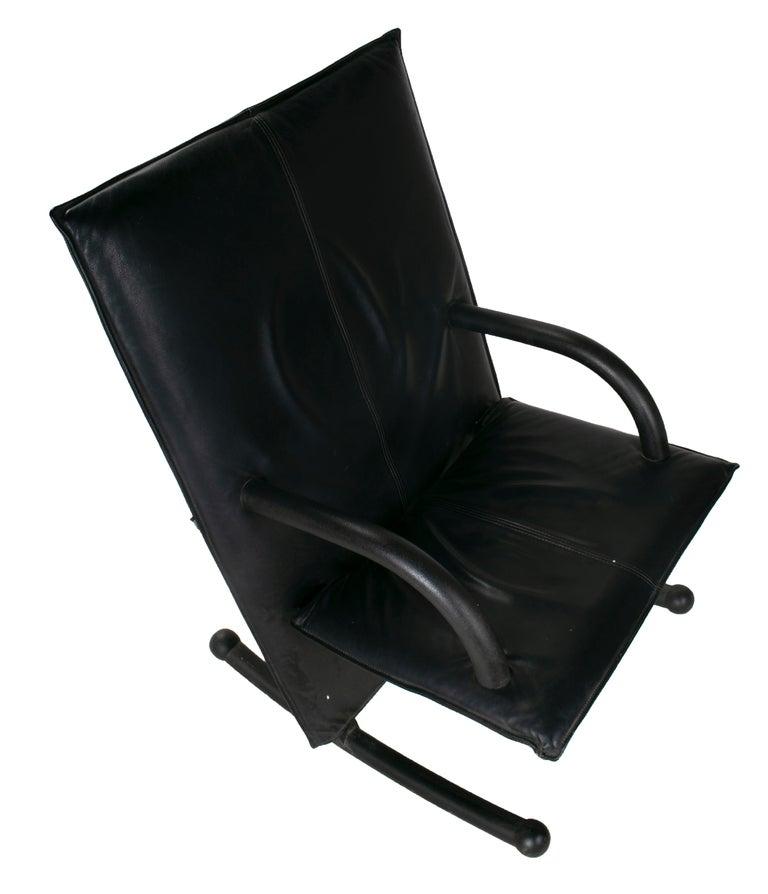Leather 1980s Burkhard Vogtherr T-Line Armchair for Arflex For Sale