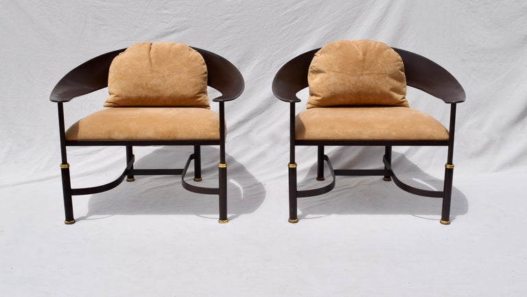 Forged 1980s Buying and Design Modern Chairs, Florence, Italy For Sale