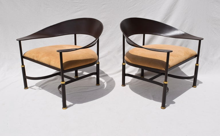Steel 1980s Buying and Design Modern Chairs, Florence, Italy For Sale