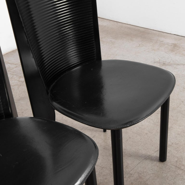 1980s Calligaris Dining Chairs, Set of Four For Sale 5