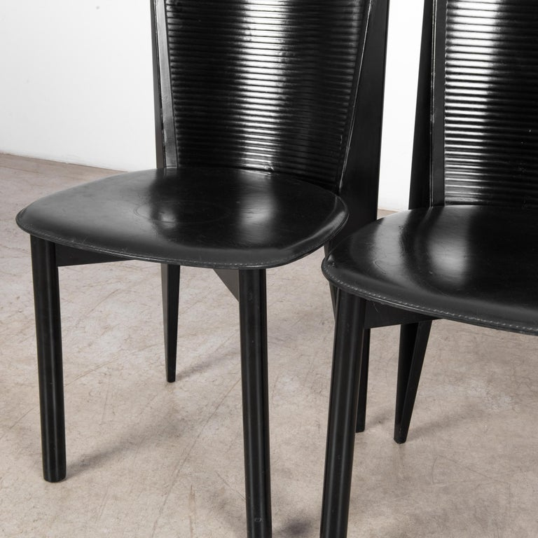 1980s Calligaris Dining Chairs, Set of Four For Sale 7