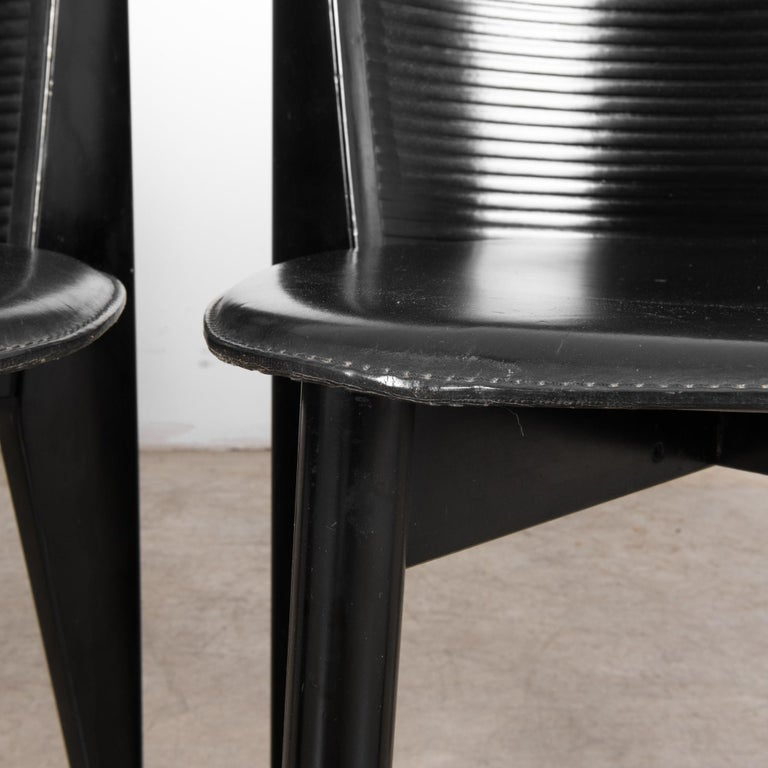 1980s Calligaris Dining Chairs, Set of Four For Sale 8