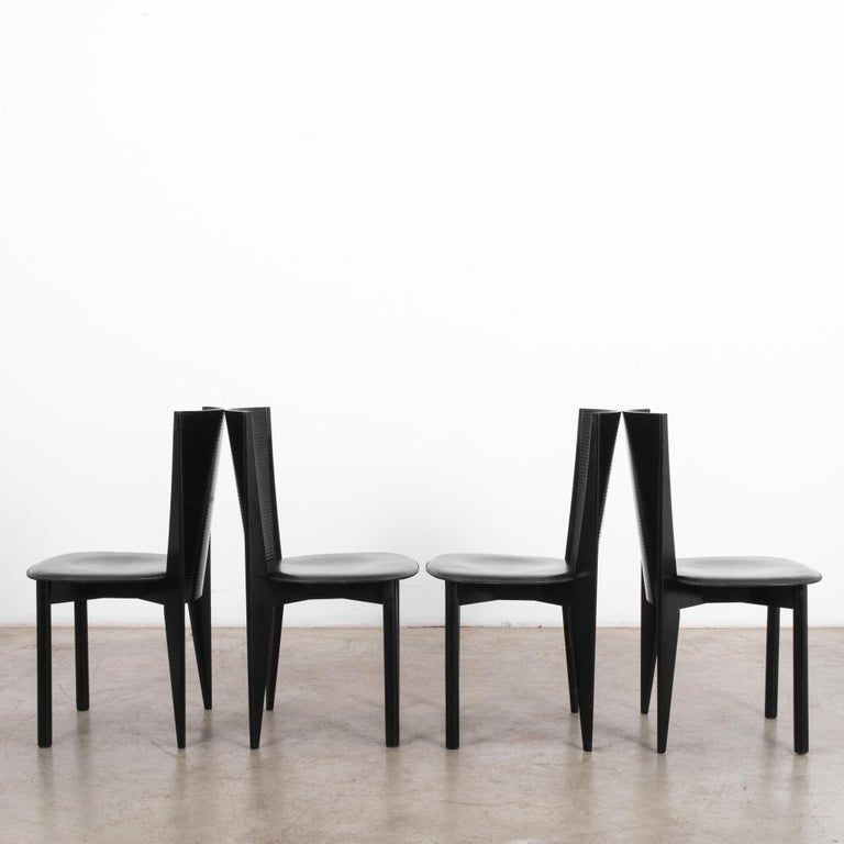 Italian 1980s Calligaris Dining Chairs, Set of Four For Sale