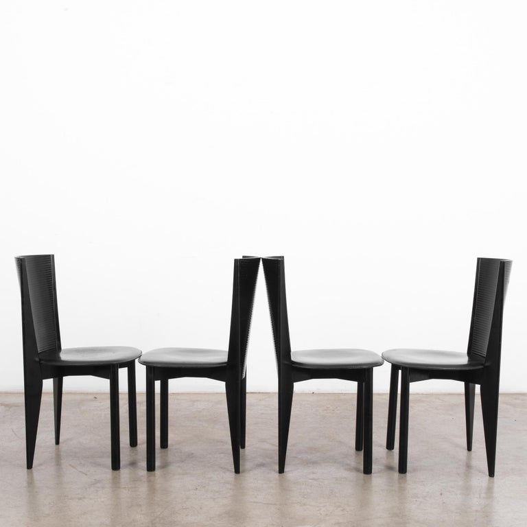 1980s Calligaris Dining Chairs, Set of Four In Good Condition For Sale In High Point, NC