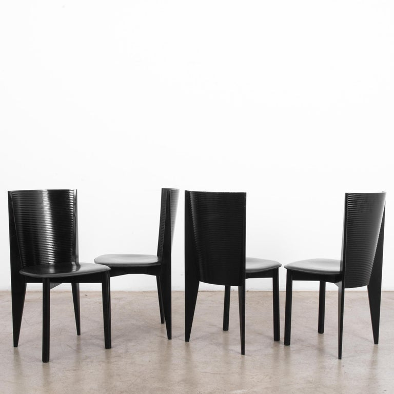 Late 20th Century 1980s Calligaris Dining Chairs, Set of Four For Sale