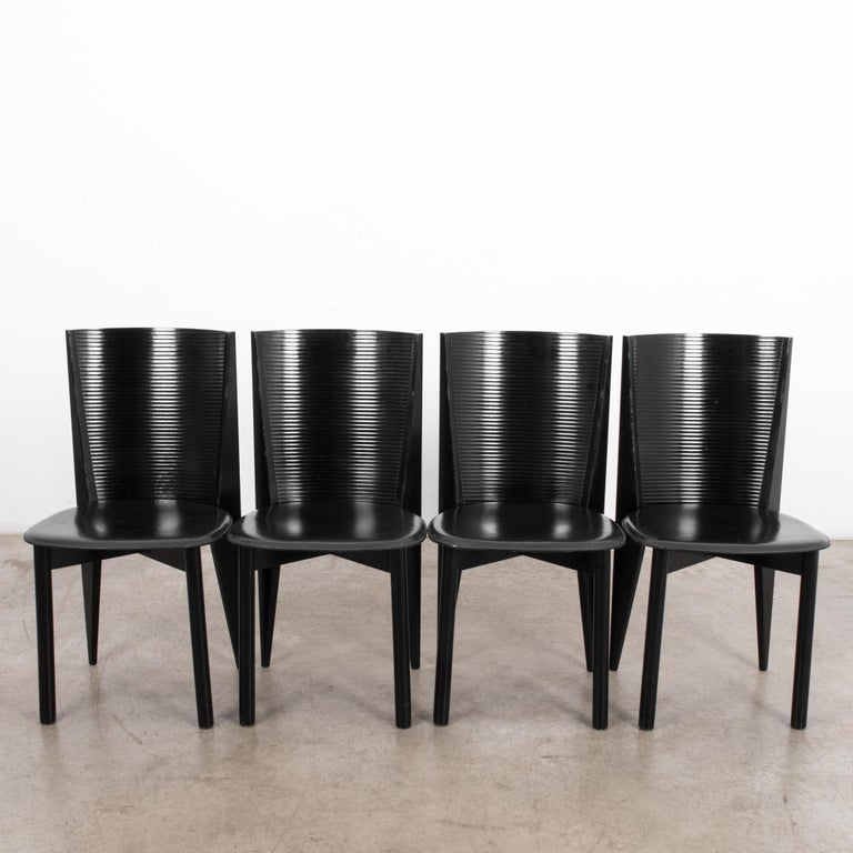 1980s Calligaris Dining Chairs, Set of Four For Sale 1