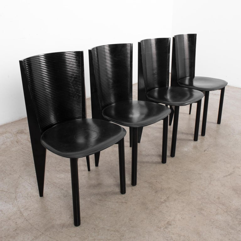 1980s Calligaris Dining Chairs, Set of Four For Sale 2