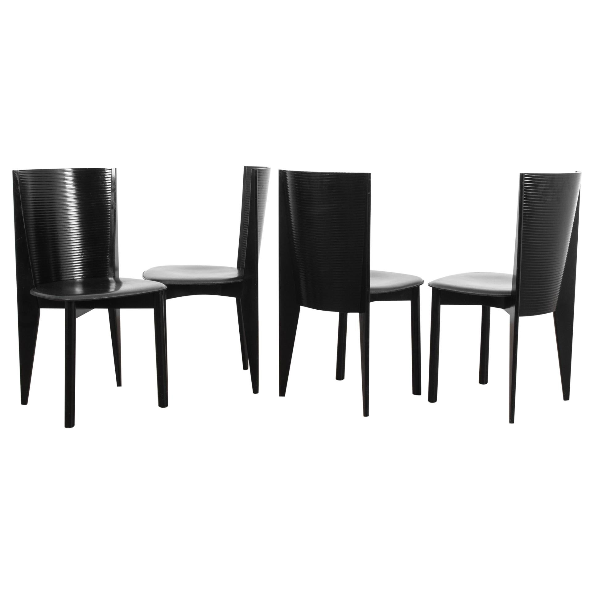 1980s Calligaris Dining Chairs, Set of Four