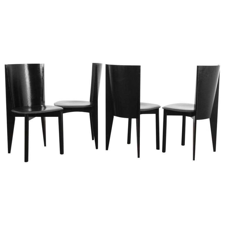 1980s Calligaris Dining Chairs, Set of Four For Sale