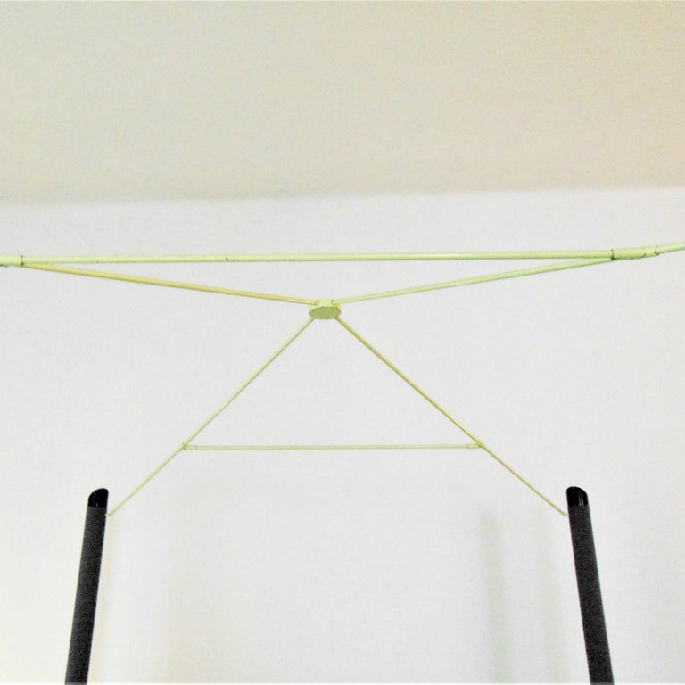 Lacquered 1980s Green Canopy Bed Glossy Dark Lacquer, Adjustable Shelves, Sormani, Italy For Sale
