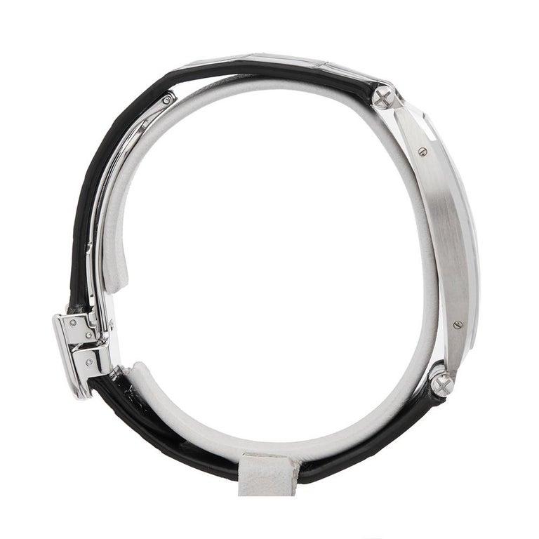 1980s Cartier Tonneau XL Platinum 1098 Wristwatch For Sale 1