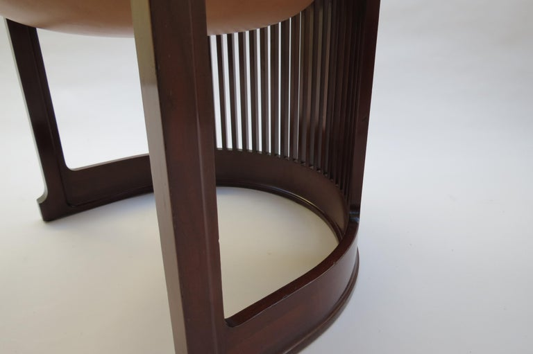 1980s Cassina Barrel Taliesin Chair Designed by Frank Lloyd Wright Cherrywood For Sale 6