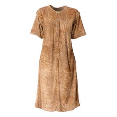 1980s Castioni Genuine Beige Suede Dress
