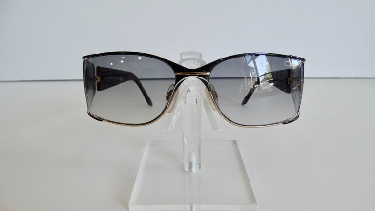 Cazal 1980s Shield Sunglasses  For Sale 5