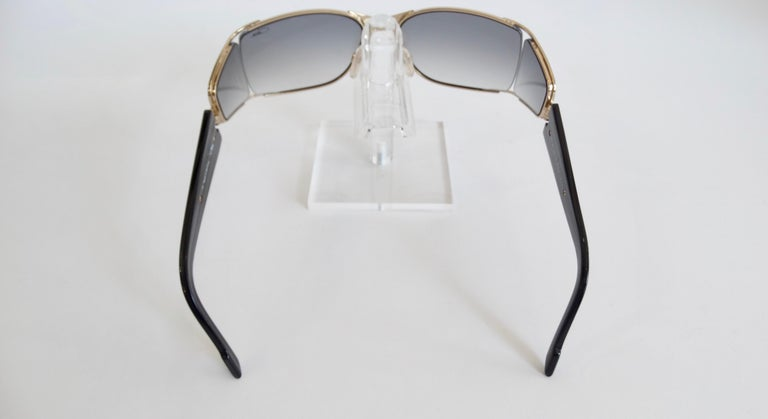 Women's or Men's Cazal 1980s Shield Sunglasses  For Sale