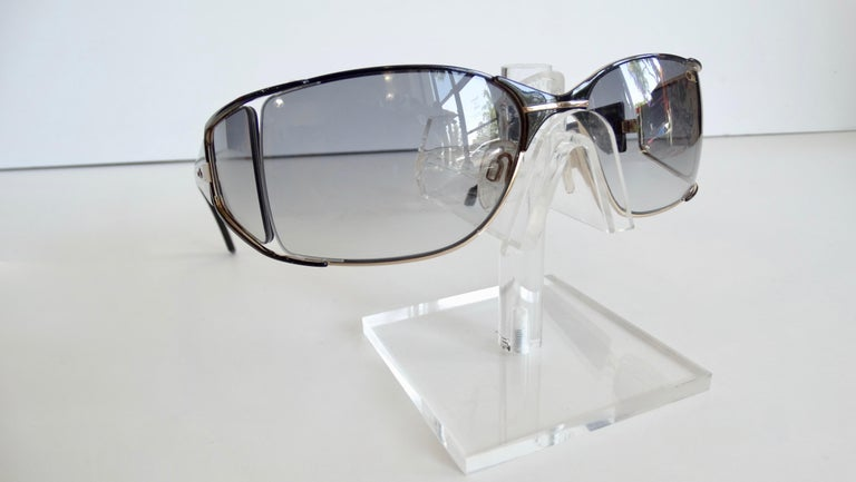 Cazal 1980s Shield Sunglasses  For Sale 4