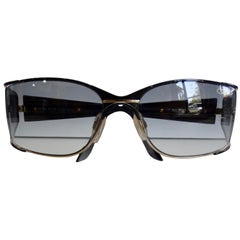 Cazal 1980s Shield Sunglasses