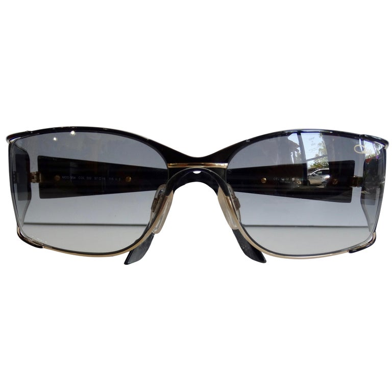 Cazal 1980s Shield Sunglasses  For Sale