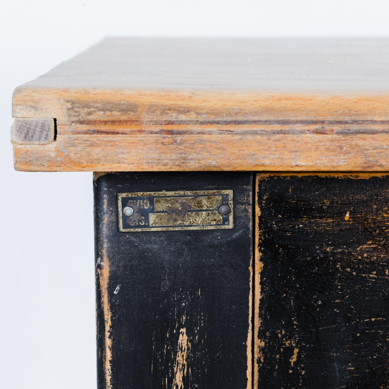 Late 20th Century 1980s Central European Wooden Work Table For Sale