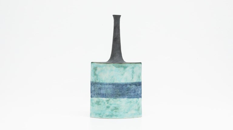 Modern 1980s Ceramic Vases by Bruno Gambone 'b' For Sale