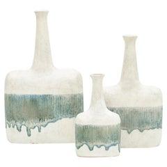 1980s Ceramic Vases by Bruno Gambone 'c'