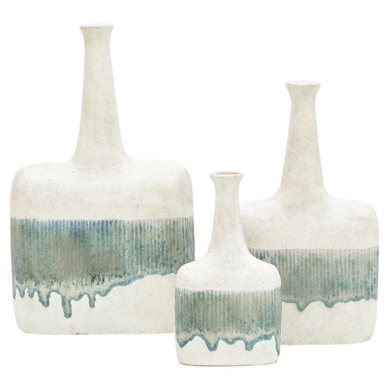 1980s Ceramic Vases by Bruno Gambone 'c' For Sale