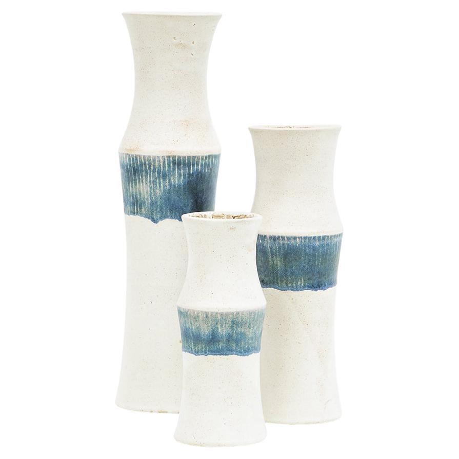 1980s Ceramic Vases Set of Three by Bruno Gambone 'a'