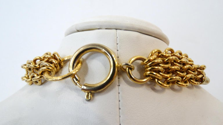 1980s Chanel 2.55 Classic Handbag Double Chain Necklace  For Sale 2