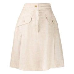 1980s Chanel Beige Skirt