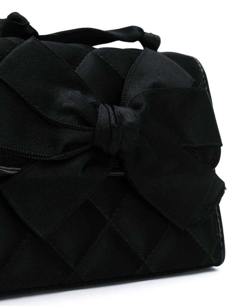 1980s Chanel Black Vintage Small Bag  In Good Condition In Lugo (RA), IT