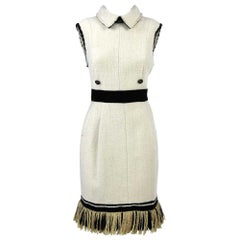 1980s Chanel Cashmere And Silk Dress