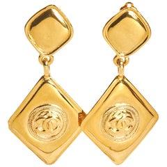 1980s Chanel Diamond-Shaped Earrings