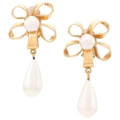 1980s Chanel pendant earrings